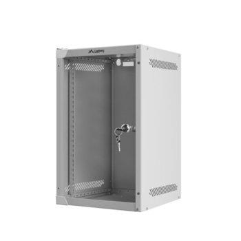 "Комуникационен шкаф Lanberg WF10-2309-10S, 10"", 9U, 280 x 310 x 469 mm, сив image"
