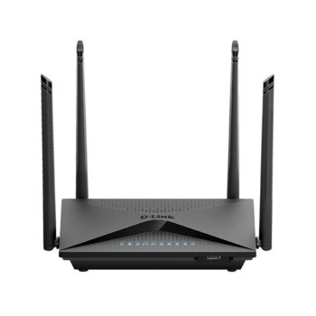 Рутер D-Link DIR-853/EE, 1266 Mbps, 2.4GHz (300Mbps) и 5GHz (966Mbps), AC стандарт, 4x 10/100/1000Mbps LAN, 1x 10/100/1000Mbps WAN, 1x USB 3.0, 4 външни антени image