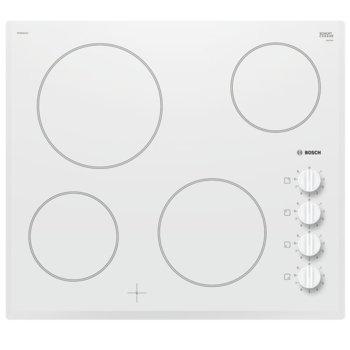 Стъклокерамичен плот за вграждане Bosch PKE652CA1E, 4 HighSpeed зони за готвене, 9 степени на мощност, бял image