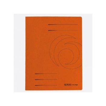 Папка от картон Herlitz Easyorga, с машинка, оранжева image