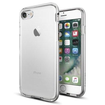 Калъф за Apple iPhone 8, хибриден, Spigen Neo Hybrid Crystal SGP-042CS20676, удароустойчив, прозрачен-сребрист image