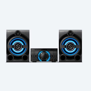 Аудио система Sony MHC M60D, 2.1, USB, Bluetooth, CD, DVD, MP3, парти светлини, караоке, черна  image
