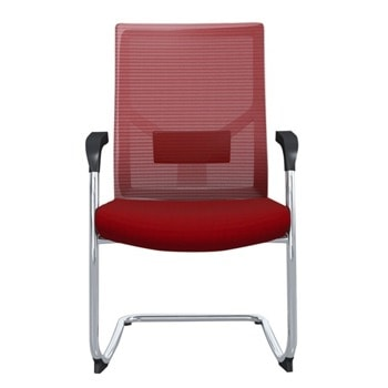 Посетителски стол RFG Snow M, до 120кг, дамаска/меш, червен, 2 броя в комплект image