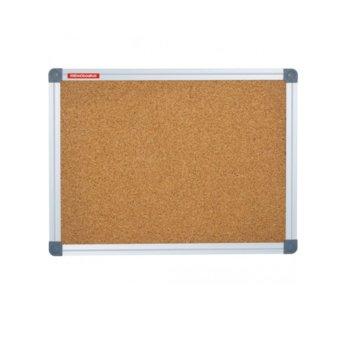Коркова дъска Memoboards, с алуминиева рамка, размер 1000x1500 mm, кафява image