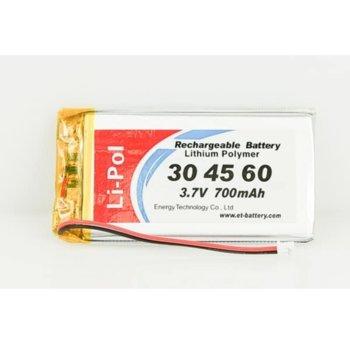 Литиева батерия LP304560-PCM, 3.4V, 700mAh, Li-ion, 1бр., PCM защита image
