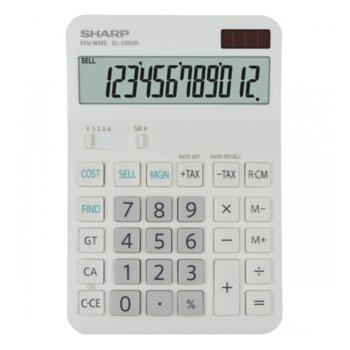 Калкулатор SHARP EL-338GN, 12 разряден дисплей, бял image