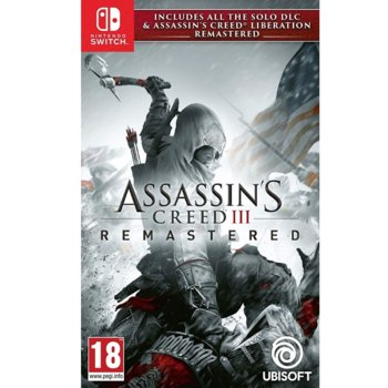 Игра за конзола Assassin's Creed III Remastered + All Solo DLC & Assassin's Creed Liberation, за Nintendo Switch image