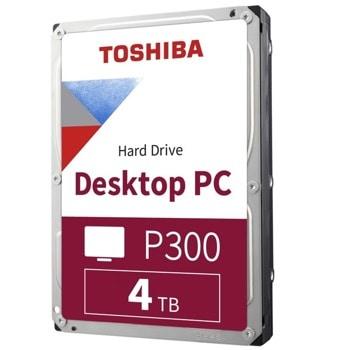 """Твърд диск 4TB Toshiba P300, SATA 6GB/s, 64MB, 7200 rpm, 3.5""""(8.89 cm), bulk image"""