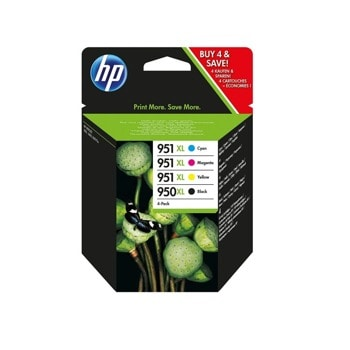ГЛАВА HP Officejet Pro 8100 ePrinter series, HP Officejet Pro 8600 e-All-in-One series - 950XL Black/951XL Cyan/Magenta/Yellow 4-pack - P№ C2P43AE - заб.: 2300p/3x1500p image