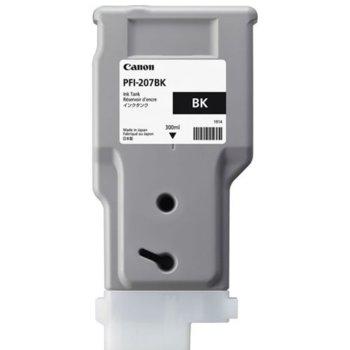 Мастило за Canon iPF680/685/780/785 - PFI-207 - Black - 300ml image