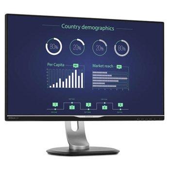 """Монитор Philips 258B6QUEB/00, 25"""" (63.50 cm), IPS панел, WQHD (2560x1400), 5 ms, 20M:1, 350 cd/m2, HDMI, DisplayPort, DVI, USB image"""