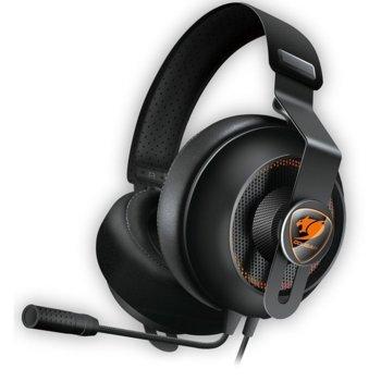 Слушалки Cougar Phontum Essential, гейминг, микрофон, 1.9m кабел, черни image