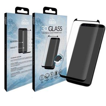 Протектор от закалено стъкло /Tempered Glass/, Eiger EGSP00112, за Samsung Galaxy S8,3D черна рамка image