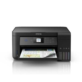 Мултифункционално мастиленоструйно устройство Epson L4160, цветен принтер/копир/скенер, 5760 x 1440 dpi, 33 стр/мин, USB, Wi-Fi, A4 image