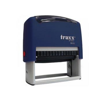 Автоматичен печат Traxx 9015 син, 70/32 mm, правоъгълен image