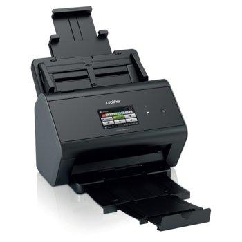 Скенер Brother ADS-2800W, 1200x1200 dpi, А4, двустранно сканиране, ADF, 512MB RAM, USB 2.0, цветен сензорен дисплей, Wi-Fi, LAN image