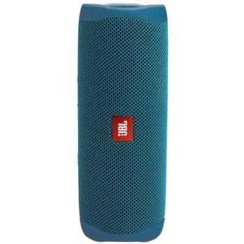 Тонколона JBL Flip 5 ECO BLUE, 1.0, 20W, USB, Bluetooth, синя, до 12ч. време на работа, влагоустойчива (IPX7) image