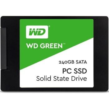 "Памет SSD 240GB Western Digital Green WDS240G2G0A, SATA 6Gb/s, 2.5""(6.35 см), скорост на четене 545MBs, скорост на запис 465MBs image"