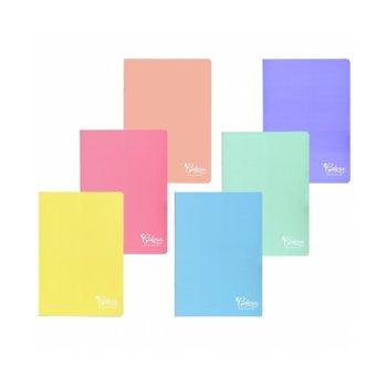 Тетрадка, формат А4, фсетова хартия с широки редове, меки корици, 80 листа image