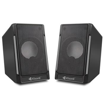 Мини Аудио Система Model T020, 2.0, 2x3W, 3.5mm стерео, USB захранване, черен image