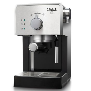 Кафемашина Gaggia Deluxe RI8435/11, 1025W, 15 bar, Филтър под налягане Crema, сребристa image