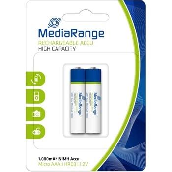 Акумулаторна батерия MediaRange High Cap. MRBAT122, AAA HR03, 1.2V, 1000 mAh, NiMH, 2 броя image