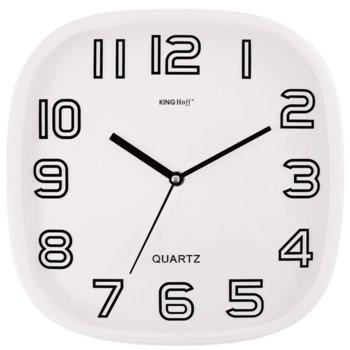 Часовник Kinghoff KH 1019, стенен, безшумен, 1х АА батерия, бял image