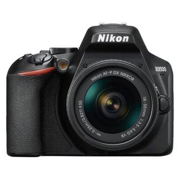 "Фотоапарат Nikon D3500 в комплект с обектив Nikon AF-P 18-55mm VR и обектив Nikon DX 35mm, 24.2 Mpix, 3.0"" (7.62 cm) TFT дисплей, SDXC/HC, HDMI, USB, Bluetooth image"