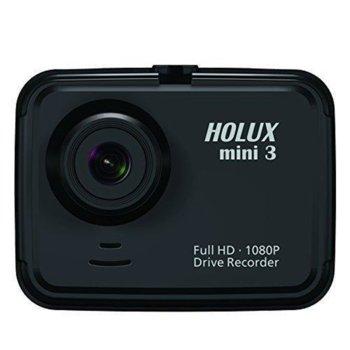 """Видеорегистратор Holux Mini 3, камера за кола, Full HD, 2""""(5.08) TFT LCD дисплей, USB 2.0, microSD image"""