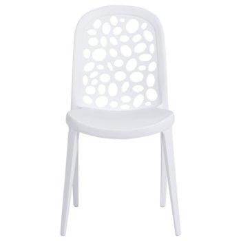 Трапезен стол Carmen 9940, полипропилен, полипропиленова база, бял image