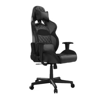 Геймърски стол Gamdias Zelus E1 L, кожа, до 190 кг натоварване, облегалка за гърба с 135 градуса регулиране, черен image