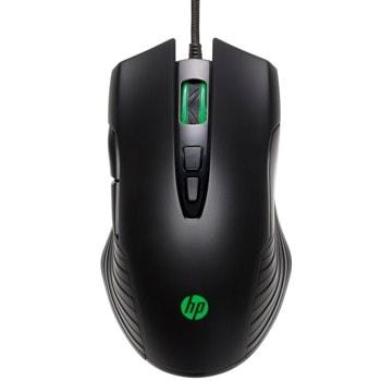 Мишка HP X220 (8DX48AA), оптична (3200 dpi), USB, гейминг, черна image