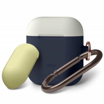 Калъф за слушалки Elago Duo Hang Silicone Case EAPDH-JIN-CWHYE, за Apple AirPods, силиконов, син image