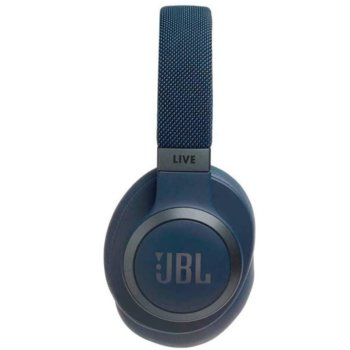 Слушалки JBL LIVE 650 BTNC, безжични, микрофон, до 30 часа време на работа, Bluetooth, сини image