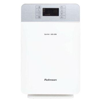 Пречиствател на въздух Rohnson R-9450, 50 W, 7 стъпки на филтрация, 3 скорости на вентилатора, Auto-Smart режим, цветен панел със сензорно управление, за помещения до 50 m2, бял image
