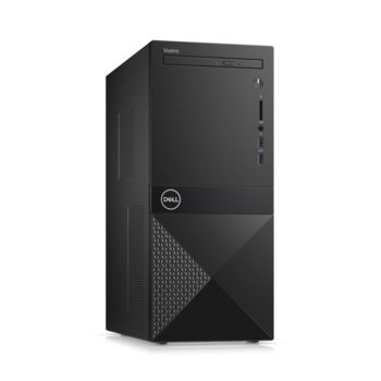 Настолен компютър Dell Vostro 3671 MT (N506BVD3671BTPEDB03_R2005_22NM), осемядрен Coffee Lake Intel Core i7-9700 3.0/4.7 GHz, NVIDIA GeForce GTX 1650 4GB, 8GB DDR4, 1TB HDD & 256GB SSD, 2x USB 3.1, клавиатура и мишка, Linux image