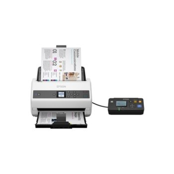 Скенер Epson WorkForce DS-870N, 600 dpi, A4, двустранно сканиране, ADF, USB, бял image