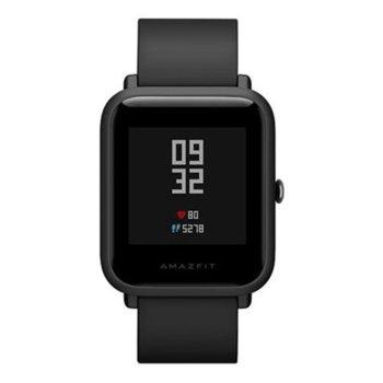 Смарт часовник Xiaomi Mi Amazfit Bip, Bluetooth, сензор : пулс, IP68, черен image