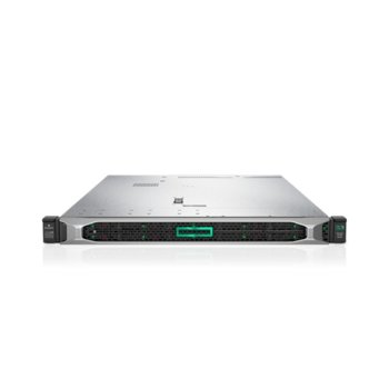 Сървър HPE DL360 G10 (P19779-B21), десетядрен Cascade Lake Intel Xeon 4210 2.2/3.2 GHz, 16GB DDR4 RDIMM, без твърд диск, 4x 1Gb LOM, 5x USB 3.0, без ОС, 1x 500W PSU image