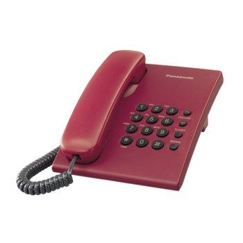 Стационарен телефон Panasonic KX-TS500, 1 линия, червен image