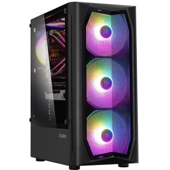Кутия Zalman ZM-N4, ATX/Micro ATX/Mini-ITX, 1x USB 3.0, 2x USB 2.0, прозорец, черна, без захранване image