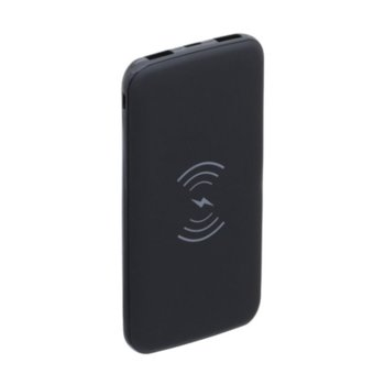 Bъншна батерия /power bank/ PZX WX01, 8000 mAh, безжично зареждане, 1x USB Type C, 2x USB A, черна image