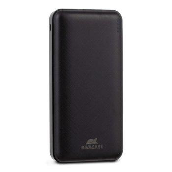 Bъншна батерия /power bank/ Rivacase VA2120, 20 000 mAh, 1x USB Type C, 2x USB A, черна image