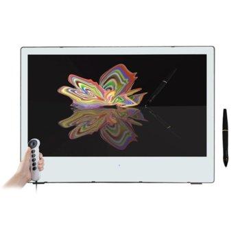 """Графичен таблет Yiynova MVP27U+FE (бял), 27"""" (68.58 cm) Full HD дисплей, 5000 lpi, 8192 нива на натиск, DVI, USB image"""