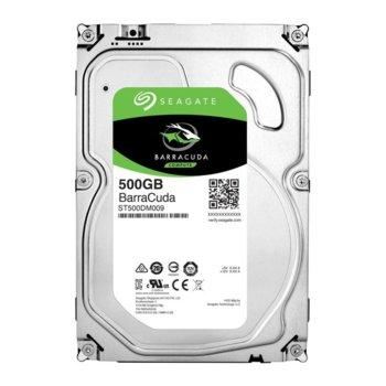 """Твърд диск 500GB Seagate BarraCuda, SATA 6Gb/s, 7200 rpm, 32MB кеш, 3.5"""" (8.89cm) image"""