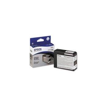 ГЛАВА ЗА EPSON Stylus Pro 3800 - T5801 - Photo Black - P№ C13T580100 - 80 ml image