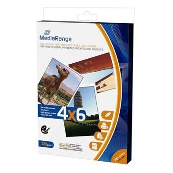 Фотохартия MEDIARANGE GLOSSY, A4, гланцирана, 220 g/m2, 50 листа image