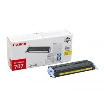 Касета за Canon LBP 5000/5100 - Yellow - CRG-707Y - P№ 9421A004 - 2 000K image