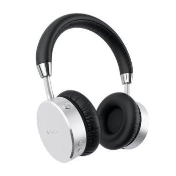 Слушалки Satechi ST-AHPS, безжични (Bluetooth 4.0), до 18 часа време за работа, 3.5мм кабел с микрофон, сребристи image