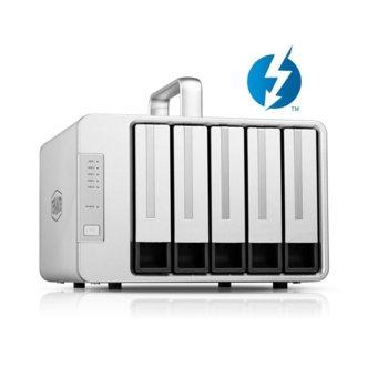 "Мрежови диск (NAS) TerraMaster D5 Thunderbolt 3 DAS Storage, без твърд диск (5x 2.5""/3.5"" SATA/SSD), 1x Display Port, 2x USB Type C(Thunderbolt 3) image"